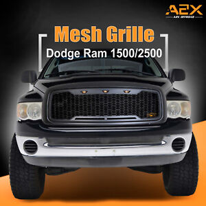 Replacement Upper Led Grille Front Grill Fit 02 05 Dodge Ram 1500 2500 3500