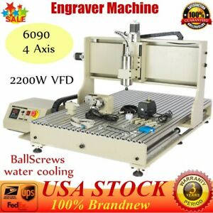 4 Axis Usb Port Cnc 6090 Router Metal Woodworking Engraver Engraving Machine