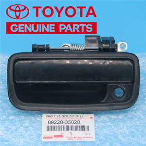 Front Left Driver Side Black Exterior Door Handle For 1995 2004 Toyota Tacoma
