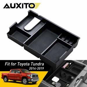 For Toyota Tundra14 19 Center Console Organizer Armrest Tray Storage Box Nonslip