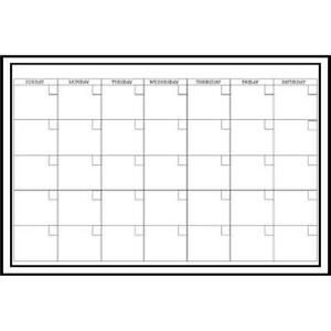 Brewster Wallpops Monthly Dry Erase Calendar Decal White Large