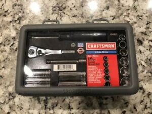 Craftsman 1 4 Drive Metric Socket Ratchet Wrench Set 34801 Barely Used Usa