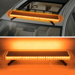 38 72 Led Car Emergency Warning Beacon Response Strobe Light Bar Amber yellow