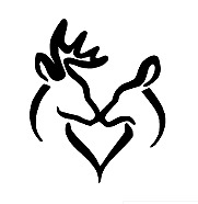 Buck And Doe Kissing Vinyl Decal