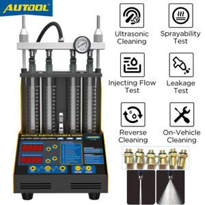 Autool Ct150 Ultrasonic Fuel Injector Cleaner Tester For Car Motor 4 Cylinders