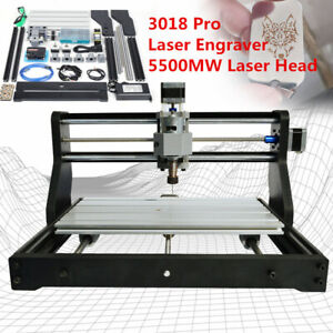 Cnc3018 Pro Router Kit Laser Ngraving Carving Milling 3 Axis 5500mw Laser Head