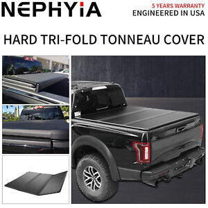 Hard Tri fold Tonneau Cover 6 5ft 78in Truct Bed For 2009 2018 Dodge Ram 1500