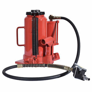 Air Hydraulic Bottle Jack 20 Ton Manual 44000lb Heavy Duty Auto Truck Rv Repair