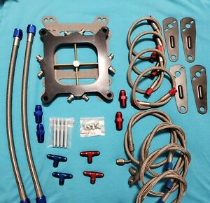 Nitrous Plate Kit Victor Jr For Square bore Carburetors 200 400 Hp