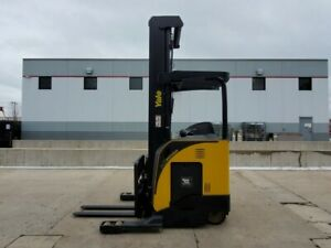 2014 Yale Nr045eb Electric Reach Truck Narrow Aisle Forklift Yale Hyster