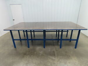 1 Thick Top Steel Fabrication Welding Layout Table Work Bench 120 75 x60 x36