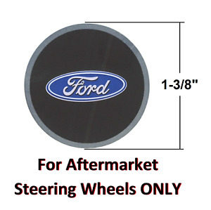 Ford Oval Steering Wheel Horn Button Insert Decal 1 3 8