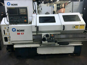 Romi M17 2004 8 Chuck 40 Centers Tailstock Tool Post Fanuc 21i t 4000 Rp