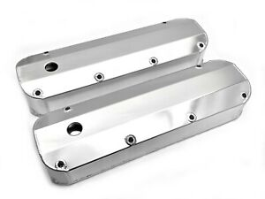 Big Block Ford Tall Alum Valve Covers 429 460 W Hole Clear Anodize 1968 88