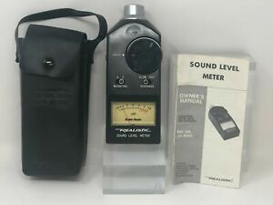 Radioshack Realistic Sound Level Meter With Leather Case And Owners Manual
