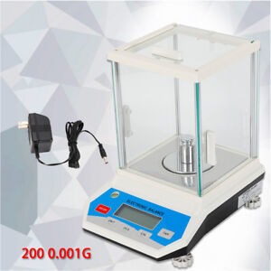 1mg Lab Analytical Balance 200x0 001g Digital Precision Scale Solid Weighing Usa