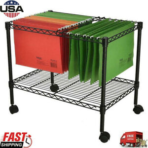 Single Tier Metal Rolling Mobile File Cart 23 6 X 12 6 X 18 Office Supplies Us