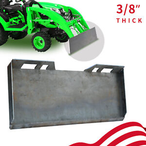 3 8 Quick Tach Attachment Skid Mount Plate Heavy Duty Steel Front Loader Plate