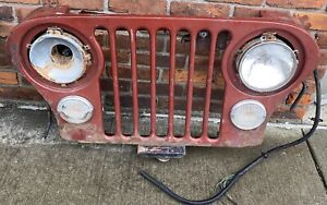 Vintage Original Cj Jeep Grill Automotive Wall Art 39 21 6 5