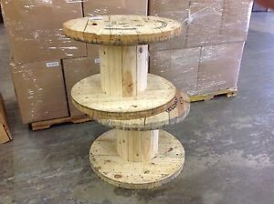 Xlarge Wooden Spool Cable Wire Reels Great For Tables H21 5 X 31 5 8 d