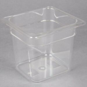 Restaurant Supply 2 Rubbermaid 1 6 Size Sixth Size Polycarbonate Food Pans lids