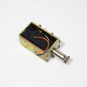 12 Vdc Linear Motion Solenoid Electromagnet Powerful 667ma 18ohm Coil 1 Inch Run