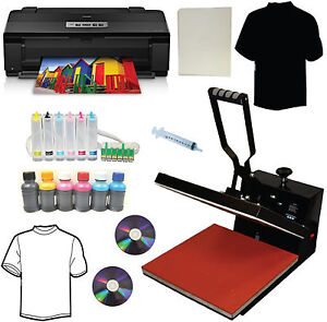 15x15 Heat Transfer Press large Wide Format Wireless 6color Sublimation Printer