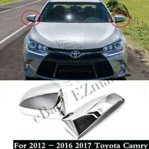 For 2012 2013 2014 2015 2016 2017 Toyota Camry Chrome Plated Mirror Covers Pair
