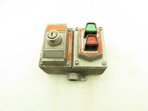 Crouse Hinds Dsd922 Explosion Proof Start Stop Push Button Cover Key Switch