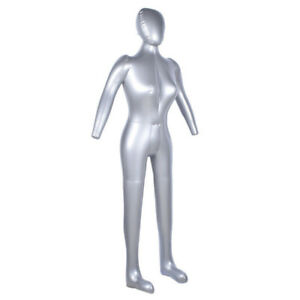 Pro Inflatable Full Body Female Model With Arm Mannequin Window Display Prop Use