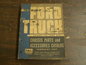 Original Ford 1956 1957 Truck Pickup Master Parts Book Chassis Catalog F100 F600