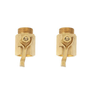 For Dramm #300 Brass 3 4 threads brass 2x shut off garden hose valve $21.95