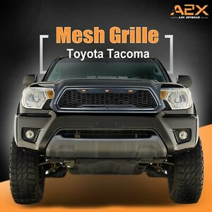 Led Grille Replacement Full Front Grill Fit For 12 15 Toyota Tacoma