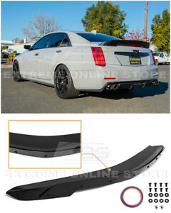 For 14 19 Cadillac Cts Carbon Package Style Rear Trunk Wing Wickerbill Spoiler