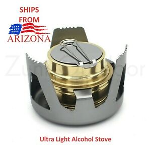 Survival Alcohol Stove Burner Backpacking Hiking Camping Outdoor Ships Arizona