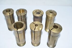 Lot Of 7 Brass 5c Round Collet Emergency