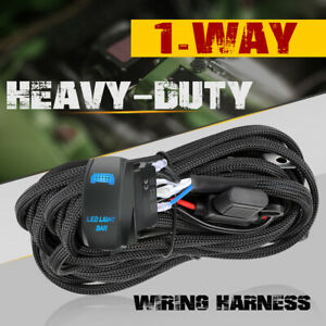 Led Work Light Bar Wiring Harness Kit 12v 40a Relay 5 Pin On Off Rock Switch Us