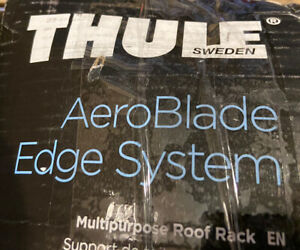 New Thule Aeroblade Edge Load Bar Qty 1 Bar 7602b Med In Black Fast Free Ship