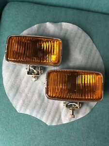 Vintage Amber Driving Fog Lamp Light Rectangle Sae Nos New Old Stock