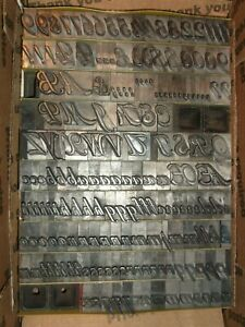 Vintage 48pt roundhand Foundry Type Letterpress Printing Antique Incomplete