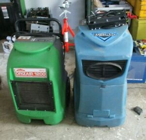 Lot Of 2 Dri eaz Commercial Dehumidifier F292 a Lgr And F203 a 1200 As Is
