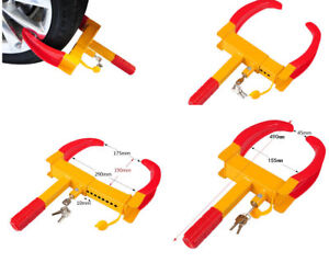 2pcs Wheel Lock Clamp Boot Tire Claw Trailer Car Truck Anti Theft Towing Tool