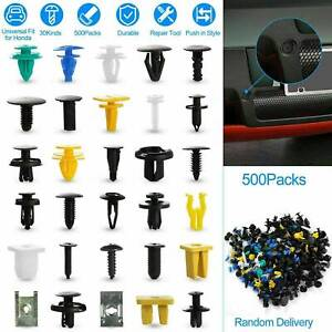 500x Plastic Car Body Push Pin Rivet Fasteners Trim Moulding Clip Screw Driver