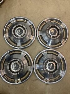1965 65 Chevrolet Corvair Monza Hubcaps Wheel Covers Chevy Center Caps Vintage