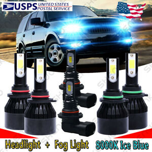 For Ford Expedition Explorer 2003 2006 6x Led Headlight Fog Bulbs High Low C9l