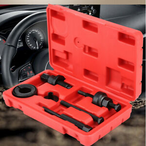 6pcs Power Steering Pump Pulley Kit Puller Remover Installer Removal Set For Gm
