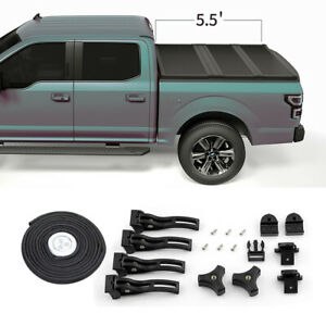 Hard Solid Tri Fold Tonneau Cover For 04 18 Ford F150 Truck 5 5ft Short Bed