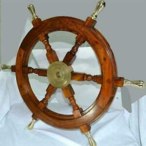 Nautical Ship Wheels Wooden Ship Wheel Vintage Unique Decorative Wheel
