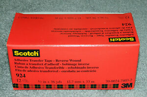 Box Of 12 Rolls Of Scotch 924 Adhesive Transfer Tape Each Roll 1 2 X 36 Yds