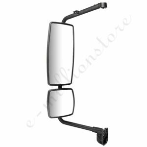 left Black Truck Mirror Complete For 02 18 International Durastar 4300